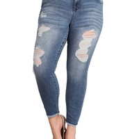 Celebrity Pink Jeans Bleecker Mid Rise Plus Size Skinny Jeans