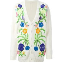Indie Designs Saint Laurent Inspired Floral Tiki Embroidered Cardigan