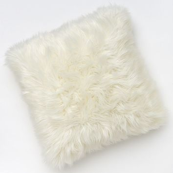 Juicy Couture Faux-Fur Throw Pillow (Beige/Khaki)