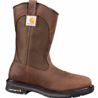 "11"" Soft Toe Square Toe Work Wellington by Carhartt (Dark Bison Brown) 