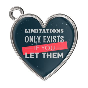 Limitations Only Exists if you Let Them Charm Motivational Bracelet