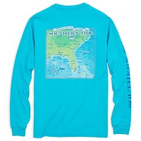 Southern Coast Long Sleeve T-Shirt in Turquoise by Southern Tide - FINAL SALE
