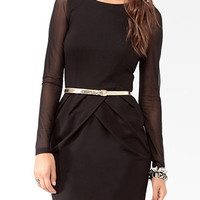 Bias Pleats Sheath Dress