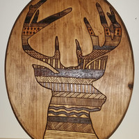 Oh Deer! // Wood Burned Plaque