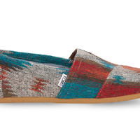 TOMS Red Blue Wool Men's Classics Red