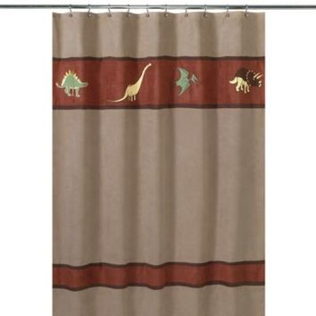 Sweet Jojo Designs Dinosaur Land Collection Shower Curtain
