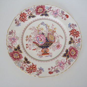Gorgeous Old Mason's Brocade Dinner Plate