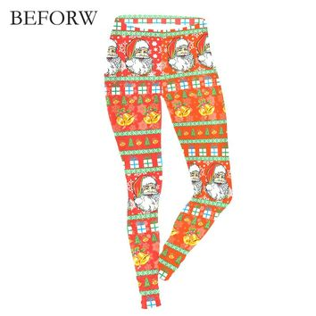 BEFORW 2017 Christmas Leggings Personality Fitness Pants Different Styles Patternswinter Women Workout leggings Cat Leggings