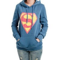 Hot Sale!Womens Simple Superman Logo Casual Hoodies Tops Outwear