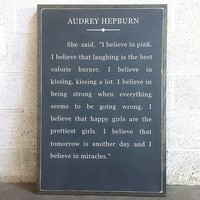 Quote Art ~ Audrey Hepburn