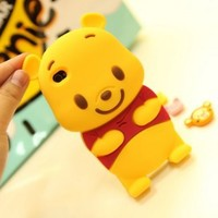 New 3D Cute Disney Winnie The Pooh Bear soft silicone case cover For iphone 5 5G:Amazon:Cell Phones & Accessories