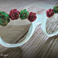 Rose Garden Glasses Sunglasses w/ FREE by OuroborosDesignsLA