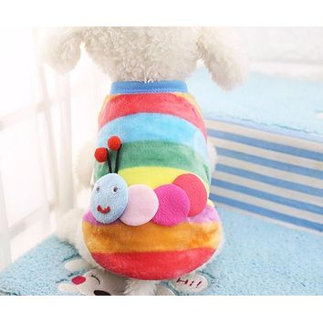 9 Styles Pet Dog Vest Coat Autumn Winter Soft Warm Flannel Material Puppy Chihuahua Clothes for Small Medium Large Dogs XS-XXL