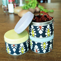 "Spice tins Japanese style, spice jars ""Mukashi"" - Set of 3"