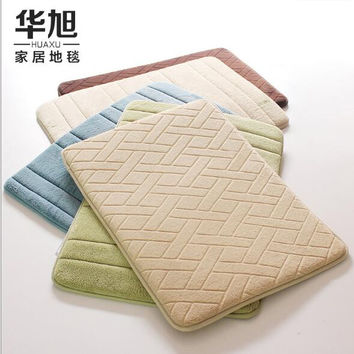 Carpets For Bathroom 40*60cm / 50*80cm, Candy 13-Color Rugs ,Antiskid Area Mat Coral Fleece Carpet Kitchen absorbent pads