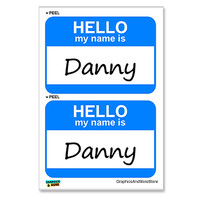 Danny Hello My Name Is - Sheet of 2 Stickers