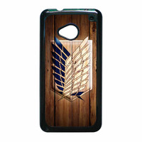 Attack On Titan Legion Logo Wood HTC One M7 Case