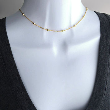 Choker, Thin Choker, Bridesmaid Gift, Cute Choker, Choker Gift, Gold Choker, Dainty Choker, Choker Necklace, Gift For Her