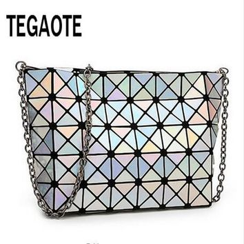 2017 Famous Bao Bao bag Diamond Lattice Fold Over Bags Women Handbags Chain Shoulder Bags Messenger Bag Bolsa BAOBAO 5*8