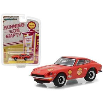 "1971 Datsun 240Z Shell Oil ""Running on Empty"" Series 4 1/64 Diecast Model Car by Greenlight"