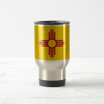 Travel Mug with Flag of New Mexico State - USA