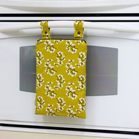 Kitchen Wet Bag, Unpaper Towel Bag, Yellow and White Berries Wetbag, Laundry Bag, Hanging Wet Bag, Waterproof Kitchen Towel Bag