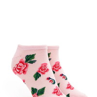 Rose-Patterned Ankle Socks | Forever 21 - 2000205528