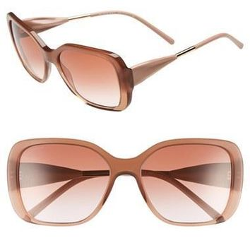 Women's Burberry 'Trench Knot' 56mm Square Sunglasses
