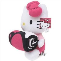 Hello Kitty Plush Doll attached with Fleece Blanket