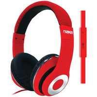 Naxa Backspin Pro Headphones With Microphone (red)