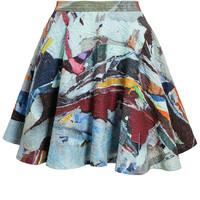 CHALAYAN | Textured Printed Cotton Skirt | Browns fashion & designer clothes & clothing