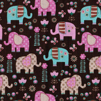 Pastel Elephant Fabric By The Yard
