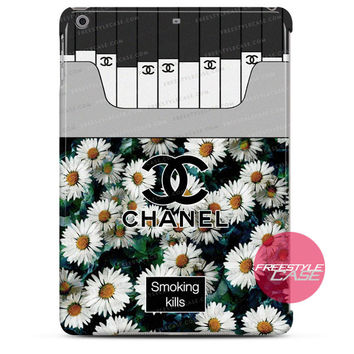 Chanel Coco Flower Smoking Kills iPad Case 2, 3, 4, Air, Mini Cover