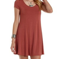 Seamed Swing T-Shirt Dress by Charlotte Russe
