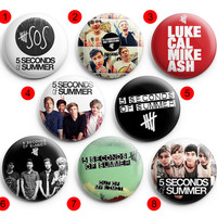 5 Seconds Of Summer Out of My Limit  Pinback Buttons Badge ,Pin Badge Buttons 1.5 inch / 38 mm round buttons