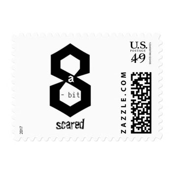8 a-Bit Scared Geek Chic Stamps