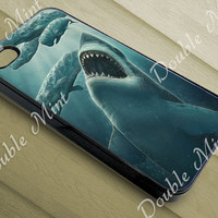 Digital Painting - Shark For iPhone 4/4s, iPhone 5/5s/5c, and Samsung Galaxy S3/S4/S5 Case, DOUBLEMINT