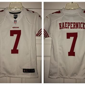 Sale!! Vintage Nike San Francisco SF 49ers Football Jersey NFL Shirt #7 Kaepernick