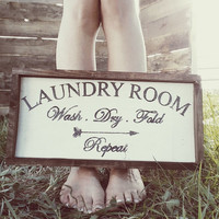 Wood Sign Laundry Room Sign