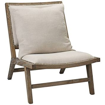 Jamie Young Baldwin Driftwood Washed Gray Accent Chair - #20T48 | Lamps Plus