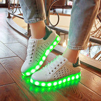 Korean LED Lightning Flat Casual Fashion Noctilucent Shoes [4964957252]