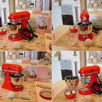 PLAYSCALE - KitchenAid MIXER & Optional Citrus Juice Attachment - 1:6 Scale - Blythe, Momoko, Pullip, Barbie