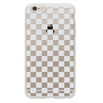 Clear Checkers iPhone Case