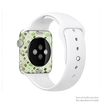 The Vintage Green Tiny Floral Full-Body Skin Set for the Apple Watch