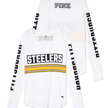 Pittsburgh Steelers Long Sleeve Football Tee - PINK - Victoria's Secret
