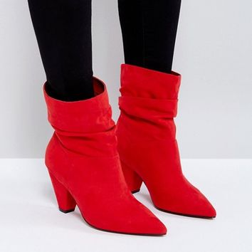 ASOS REEVES Wide Fit Slouch Heeled Ankle Boots at asos.com