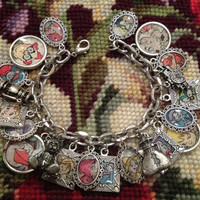 Disney's The Rescuers Altered Art Upcycled Charm Bracelet