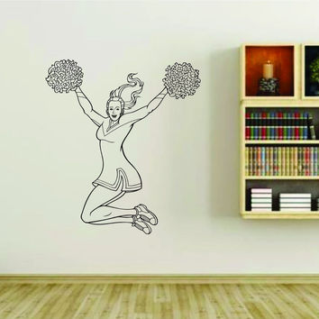 Cheerleader Cheerleaders Cheer Version 115 Vinyl Wall Decal Sticker