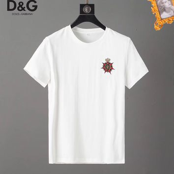 Dolce&Gabbana D&G Fashion White T-Shirt Top Tee