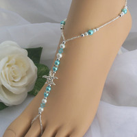 Starfish Foot Jewelry Wedding Starfish Barefoot Sandal Anklet